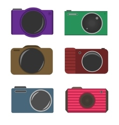 Photocamera icons vector