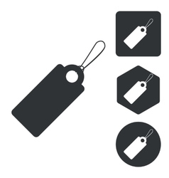 String tag icon set monochrome vector