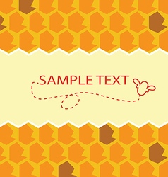 Honey template vector