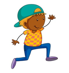 Boy doing hip hop dancing vector