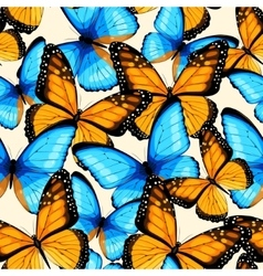 Blue butterflies seamless vector