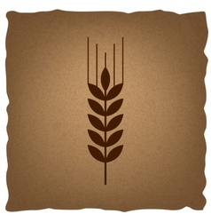 Wheat sign vintage effect vector