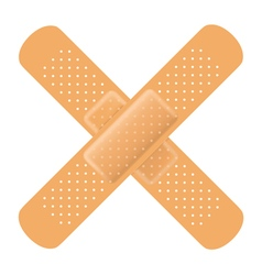 Adhesive bandage cross vector