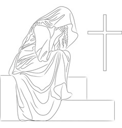 angel tombstone vector image vector image
