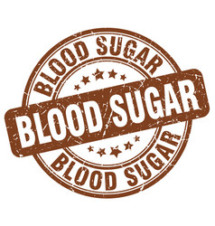 Blood sugar brown grunge stamp vector