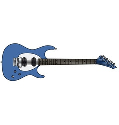 Blue electric guitar vector