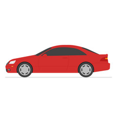 Car isolated automobile in white background vector