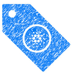 Cardano tag icon grunge watermark vector