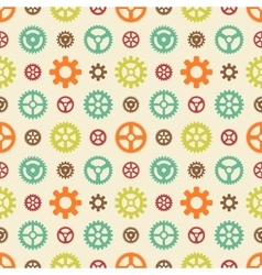 Colored gears seamless pattern vector image