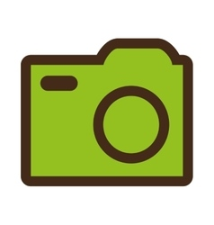 colorful media icon graphic vector image vector image