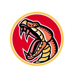 Copperhead snake mascot vector