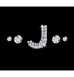 Diamond alphabetic letter j vector