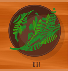 Dill flat design icon vector
