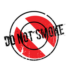 Do not smoke rubber stamp vector