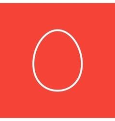 Egg line icon vector