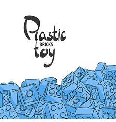 Elements of plastic constructor vector