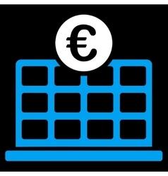 Euro Hotel Icon vector image