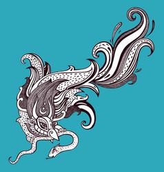 Garuda hand drawn vector