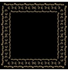 Gold bandana silk scarf vector
