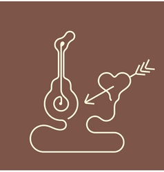 Guitar and heart vector