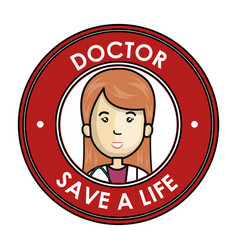 Health professional avatar character vector