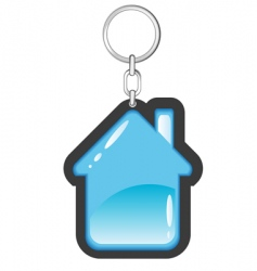 house as a key ring vector image vector image