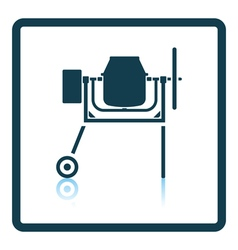 Icon of concrete mixer vector