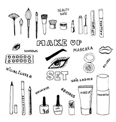 Make up set vector