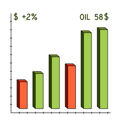 oil price chartoil single icon in cartoon style vector image
