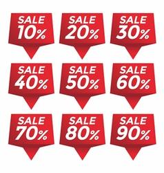 Sale percent sticker price tag vector image vector image