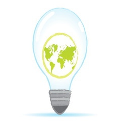save world bulb vector image vector image