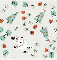 simple christmas seamless pattern vector image vector image