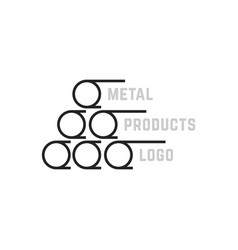 simple metal products logo vector image vector image