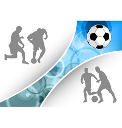 soccer document vector image vector image