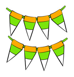 st patricks day flags icon icon cartoon vector image