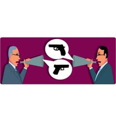 Verbal Confrontation vector image vector image