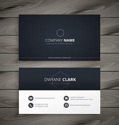Clean dark business card vector