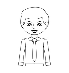 Half body man silhouette with formal shirt vector