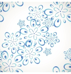 Diagonal seamless flower pattern vector