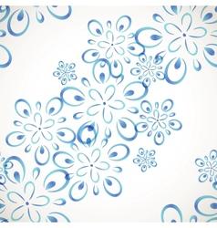 Diagonal seamless flower pattern vector image