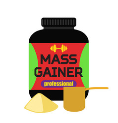 Sports nutrition mass gainer professional powder vector