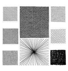 Hand drawn textures vector