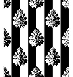 Seamless monochrome damask vintage pattern Striped vector image