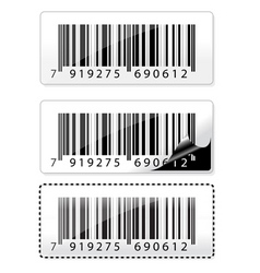 Barcode sticker vector