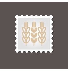 Spikelets wheat stamp outline vector