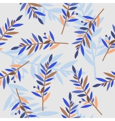 Floral seamless pattern with branches for textile vector