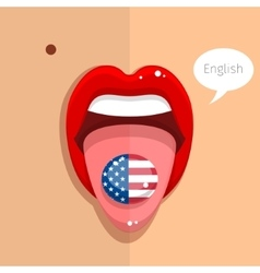 English language concept vector