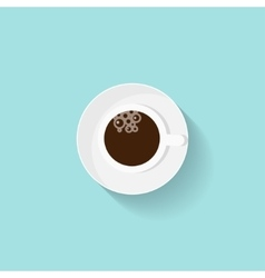 Cup of coffee in a flat style morning drink vector