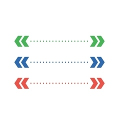 Abstract arrow element shape isolated vector