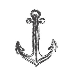 Blurred sketch contour anchor icon design vector
